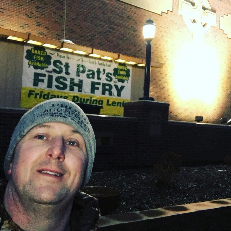 Chris Bober at St. Pat's Fish Fry