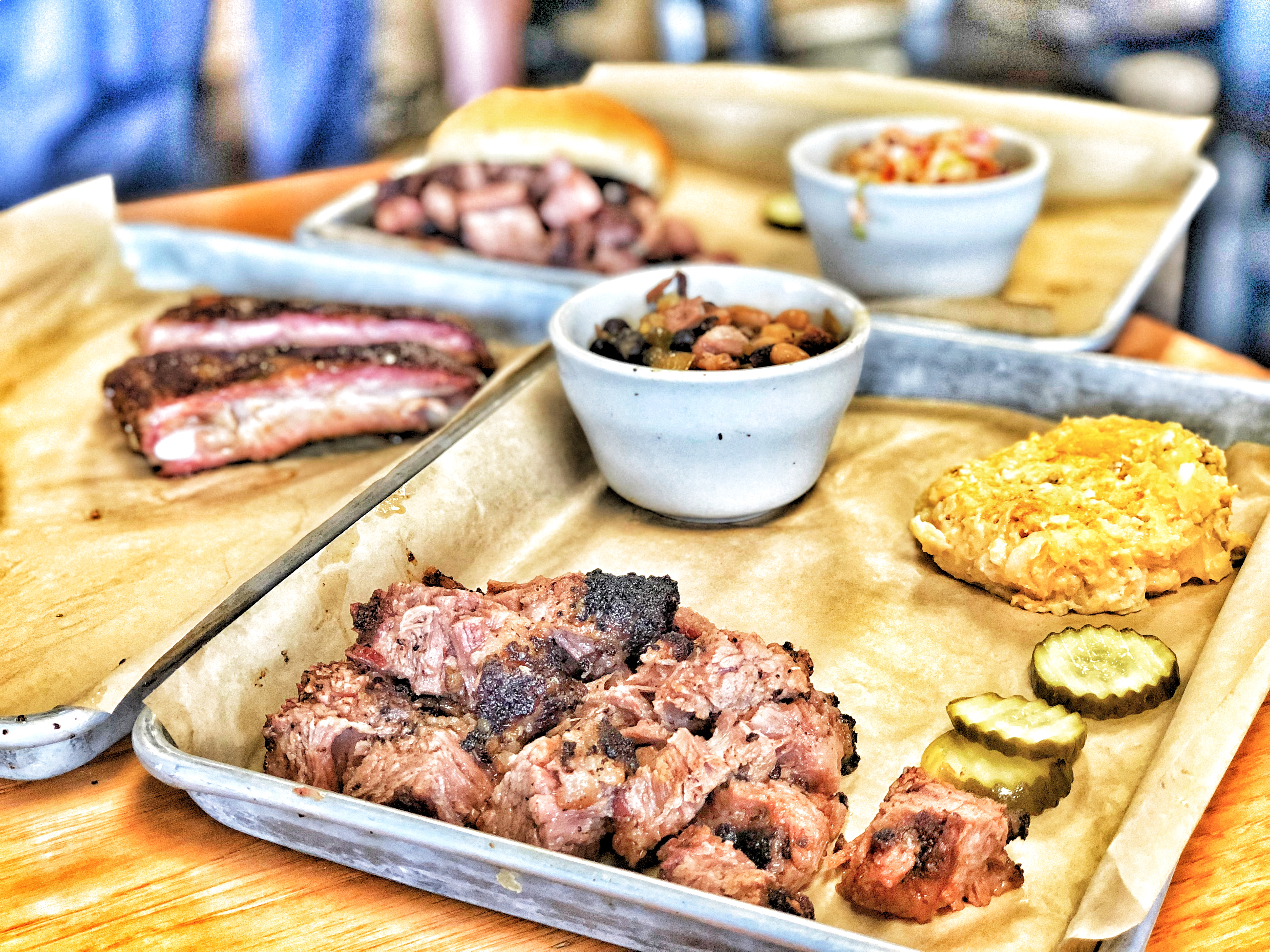 BBQ with sides at Mulberry BBQ